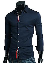 Glory Shirt Collar Long Sleeve Ribbon Decoration Casual Shirt