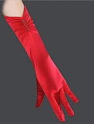 satin Fingerspitzen ellbogenlangen Hochzeit Handschuhe