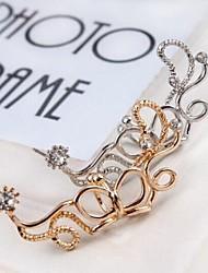 Poignets oreille Imitation de diamant Alliage Mode Forme de Fleur Argent Doré Bijoux Mariage Soirée Quotidien Décontracté Sports