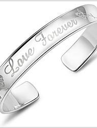 Cuff armband - Unisex - Armbanden ( Zilver )