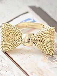 hot venda bowknot forma anéis de ouro
