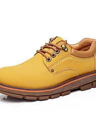 Men's Spring / Summer / Fall / Winter Work & Safety Leather Casual Flat Heel Black / Brown / Yellow