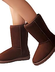 Hobo Frauen Casual warmen verdicken flachem Absatz Schnee Stiefel braun