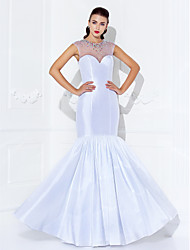 Trumpet/Mermaid Jewel Floor-length Taffeta Evening Dress