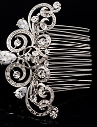 Women's / Flower Girl's Rhinestone / Alloy Headpiece-Wedding Hair Combs