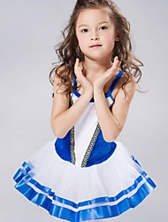Roupas de Dança para Crianças Vestidos e Saias Tutus Crianças Chiffon Elastano Veludo Sem Mangas