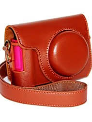 dengpin® stile retrò di ricarica cuoio dell'unità di elaborazione della copertura del sacchetto custodia per fotocamera con tracolla per Casio zr1500