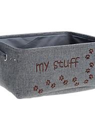 retângulo dobrável minha loja tecidos de poliéster característica pessoal conteúdo cesta - cinza