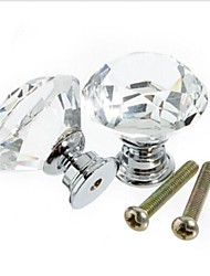 10Pcs Crystal Glass Door Handle Knob