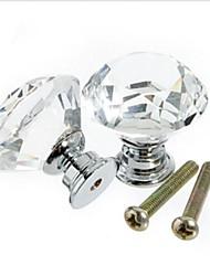 10Pcs Crystal Glass Door Handle Knob