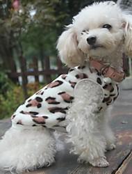 Katzen Hunde Pullover Pyjamas Braun Hundekleidung Winter Frühling/Herbst Leopard Lässig/Alltäglich