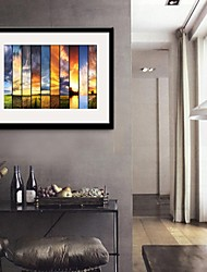 E-HOME® Framed Canvas Art, Setting Sun Framed Canvas Print