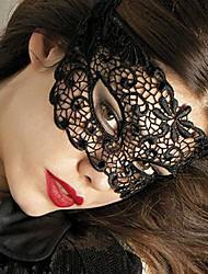 Para Mujer Ropa de dormir Un Color Encaje Negro