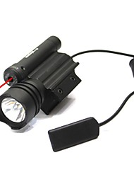 Yellow 150 Lumens Flashlight and 5 MW Red Combination 20 MM Rail Laser Light 3131
