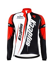 KOOPLUS Unisex Winter Cycling Clothing Long Sleeve Thermal Fleece Cycling Jersey--Red+White