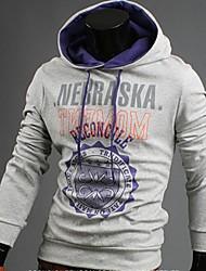 Kapuzenjacken & Sweatshirts ( Polyester ) Langarm - Bedruckt - Langarm - Herren