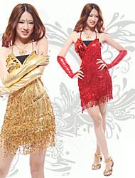 New Style Dancer Shower Tassel Slip Latin Dress Women's Costume