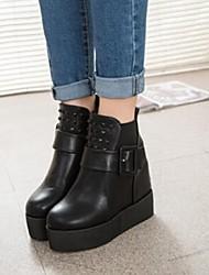 Winble Women's Fashion Causual Comfortable Rivet Platdorm Temperament Martin Boots