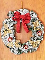 Christmas Wreath Rattan with Snowflake Door hanging,Christmas Decorating Wreath(Random Color)