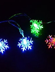 Christmas Snowflake 4.5M  28 LED Colorful  String Lights