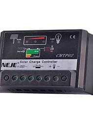 neje 12v / 24v 30a régulateur de charge solaire