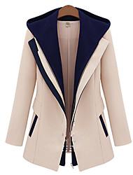 Juciy Women's Elegant Hoodie Long Sleeve Thermal Coat