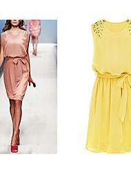 Osim Women's Elegant Slim Sleeveless Dress