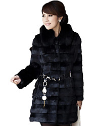 XT Fox Fur Coat_125 (Black,White)