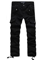 Men's Fashion Multiple Pockets Straight Casual Pants