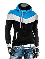 à capuche de couleur de charme de la mode lesen hommes polaire mince manches longues occasionnels capuche o