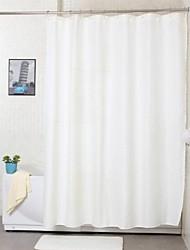 solido bianco tenda della doccia in poliestere