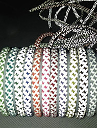 Fabric Colorful Reflective Shoelaces 1 Pair