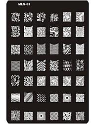 Pre-designed Nail Art Stamping Image Plate Nail Art Template Nail Stencil No.3