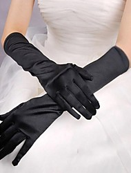 Operalengte Vingertoppen Satijn Bruidshandschoenen Handschoen