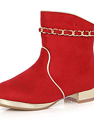 Støvler ( Brun/Rød ) - GIRL - Komfort/Rund Tå/Fashion Boots