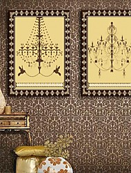 e-FOYER toile tendue art un ensemble de deux lustre de la peinture de décoration