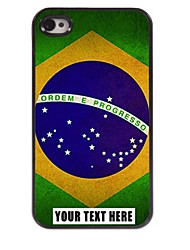 Personalized Phone Case - Brazilian Flag Design Metal Case for iPhone 4/4S