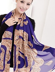 SUIDE Women's Leopard Print Scarves Air Conditioning Is Prevented Bask in Cape XF23 Blue
