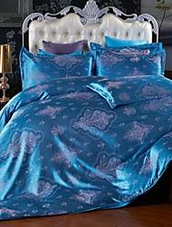 Leaf Faux Silk 4 Piece Duvet Cover Sets