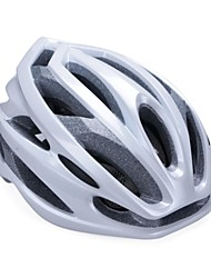 moda unisex y de alta transpirabilidad pc + epp casco de bicicleta (24vents) - plata