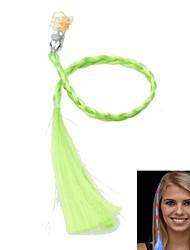 changement de couleur conduit lumineux tresse de cheveux pour des rassemblements du parti accessoires (vert)