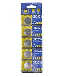 pilas de botón de alta capacidad Xingqiu cr2032 3v (5pcs)