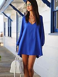 Dresss Women's New Mini V Neck Chiffon A Line Dress BP9020