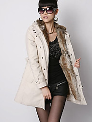 Fashion Winter Necessary Lady's Slim Warm Coat Beige