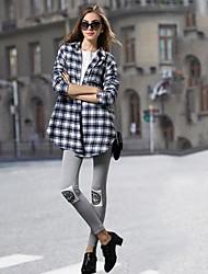 moda concisa camicie a quadri da donna