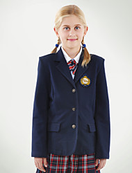 School Uniforms Girls' Navy Two Pockets Blazer