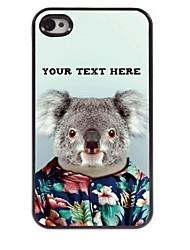 personalizzato del telefono caso - koala caso di disegno del metallo per il iphone 4 / 4s