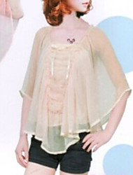 Simple Design Batwing Sleeve Fashion Blouse