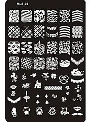Lovely Nail Art Stamping Image Plate Nail Art Template Nail Stencil No.6