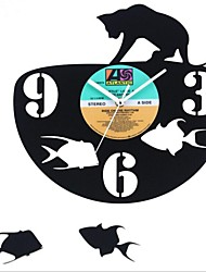 "Retro LP Style DIY Wall Clock Acrylic with LP Cover Finished 12""(30CM),Animal Design"
